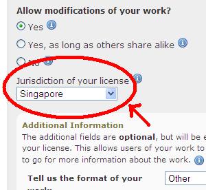 "Creative Commons Singapore licences - Now ""LIVE""!"