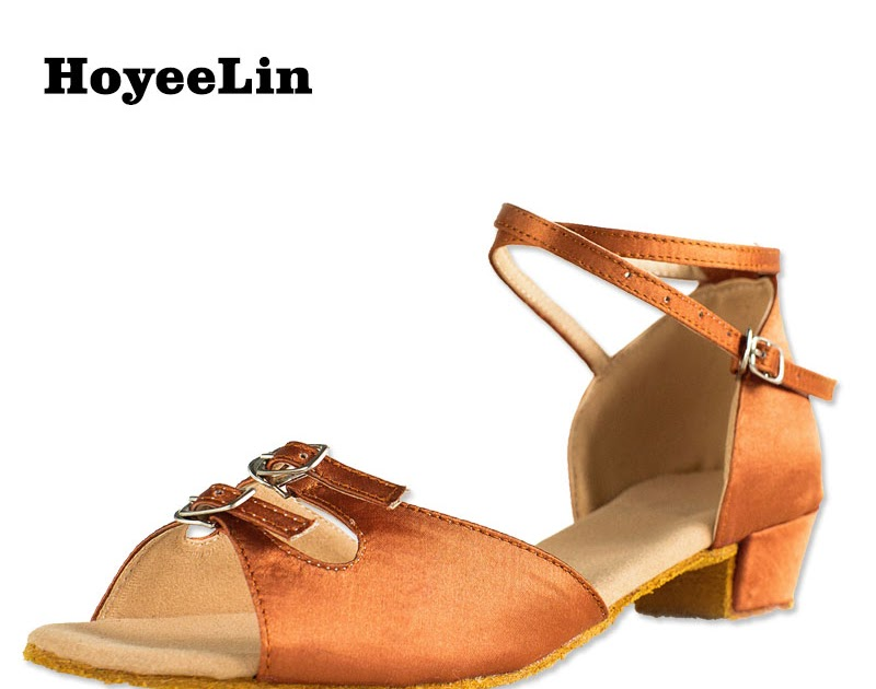 5c9d73aa speaktomyheartx3: Comprar HoYeeLin Tacón Bajo Zapatos De Danza Latina Mujer  Señoras Abierto Toe Satén Salón Baile Salsa Sandalias Online Baratos