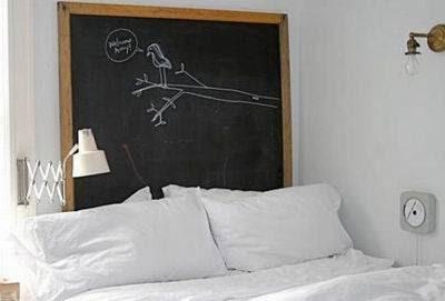 cabecero cama infantil pizarra