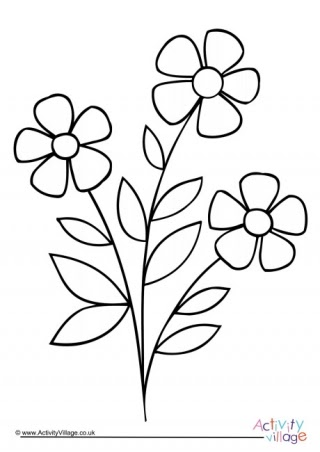 Simple Flower Colouring Pages Flower