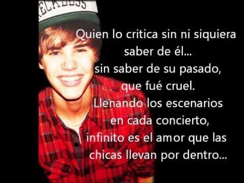 Fabulosas Frases De Canciones En Ingles De Justin Bieber