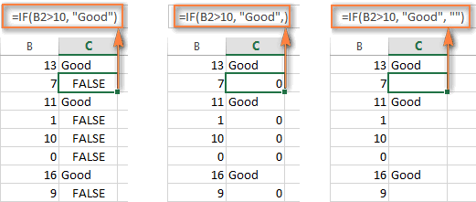 How to use IF function in Excel: examples for text, numbers, dates, blank cells