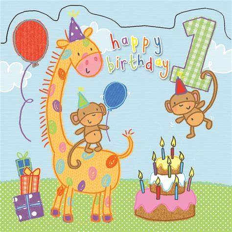 Age 1 Sparkly Birthday Card for Children TW420