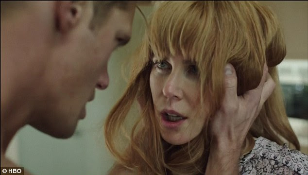 Fiery:The fifth episode of the HBO show explored the complexities of the disturbing marriage between Celeste (Nicole Kidman) and Perry (Alexander Skarsgard) on Sunday night