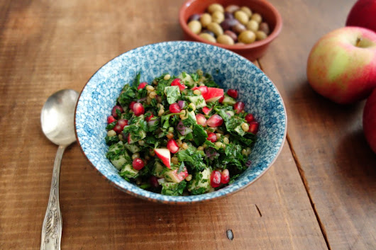 Wheat Berry Tabouli Salad Recipe with Autumn Fruits