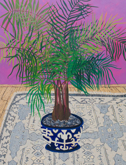 SubmissionFriday:  Anna Valdez- Palm, 2014. Oil on... | SFMOMA