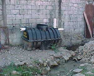 A septic tank before installation