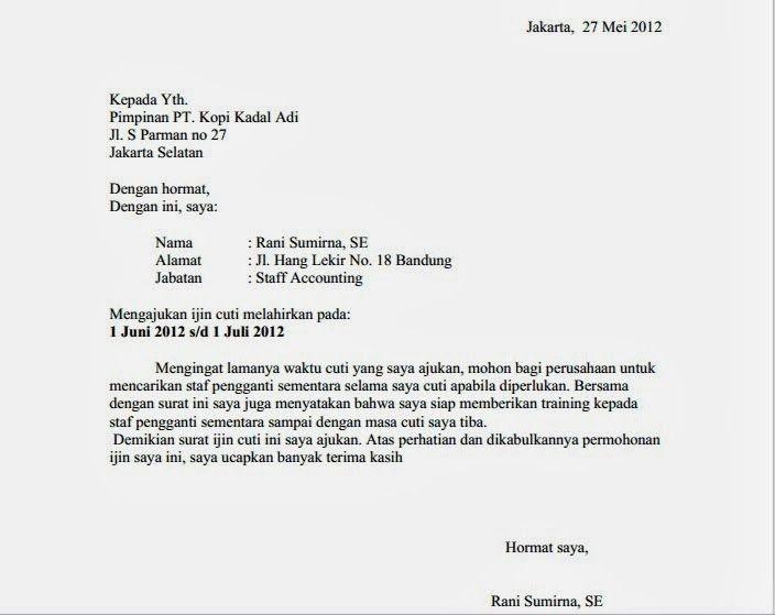 40++ Contoh surat cuti melahirkan mahasiswa terbaru yang baik dan benar