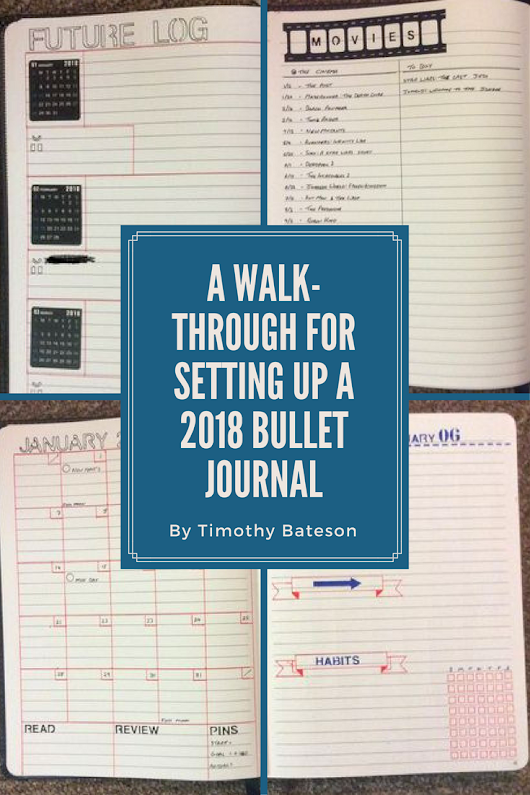 A Walk-Through For Setting Up A 2018 Bullet Journal