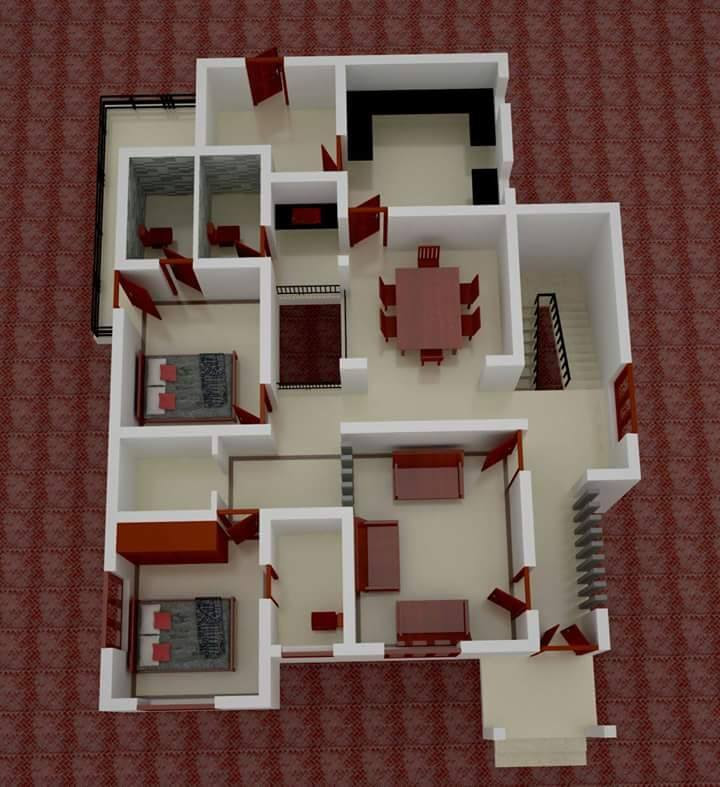 Low Budget Kerala Home Design With 3d Plan Home Pictures