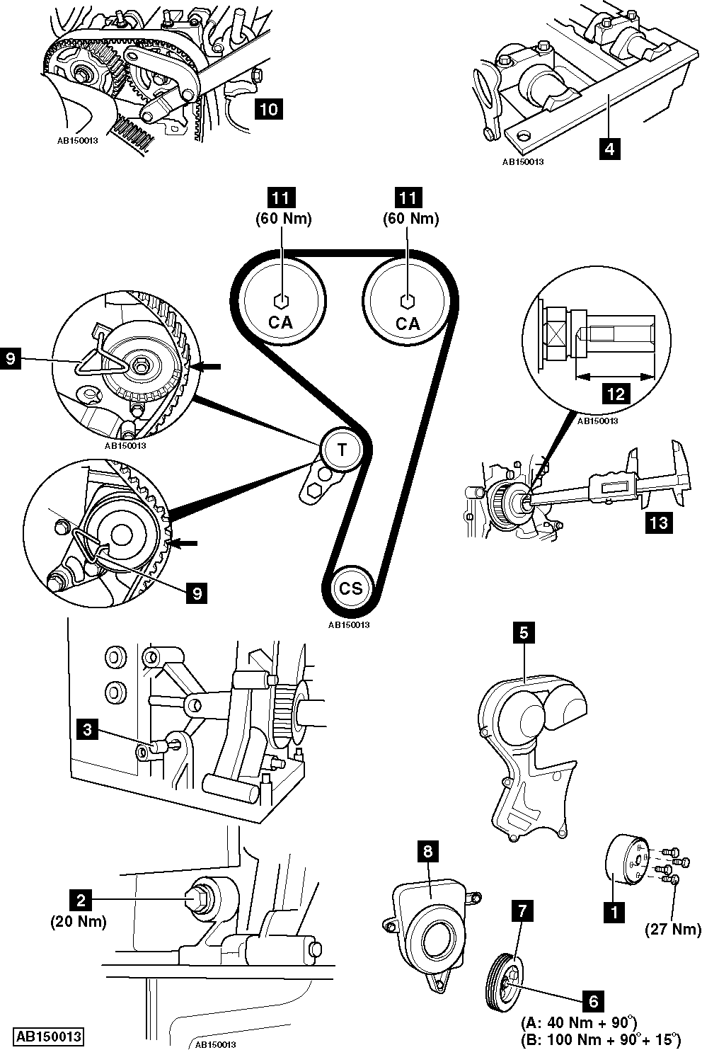 Replace Timing Belt On Ford Focus 1 4 2004 2011