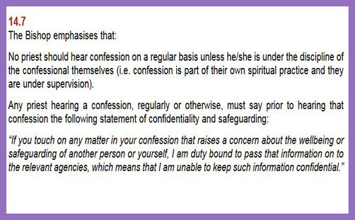 CofE: 'Come and confess your sins, but we might have to report you to the police'