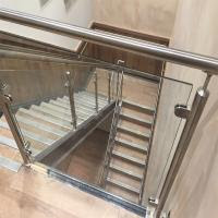 Price Of Modern Stair Stainless Steel Balcony Glass Terrace Railing