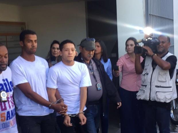 Lucas Perdomo e Raí de Souza foram transferidos para o Complexo Penitenciário de Gericinó, em Bangu, na Zona Oeste do Rio (Foto: Henrique Coelho/ G1)