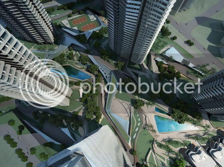 vista en picado de los futuros edificios