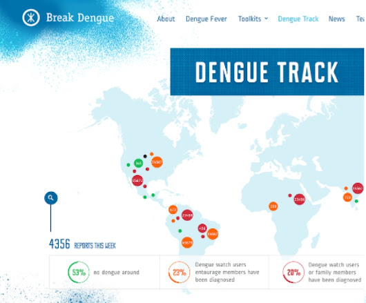 Launch of crowdsourced dengue track