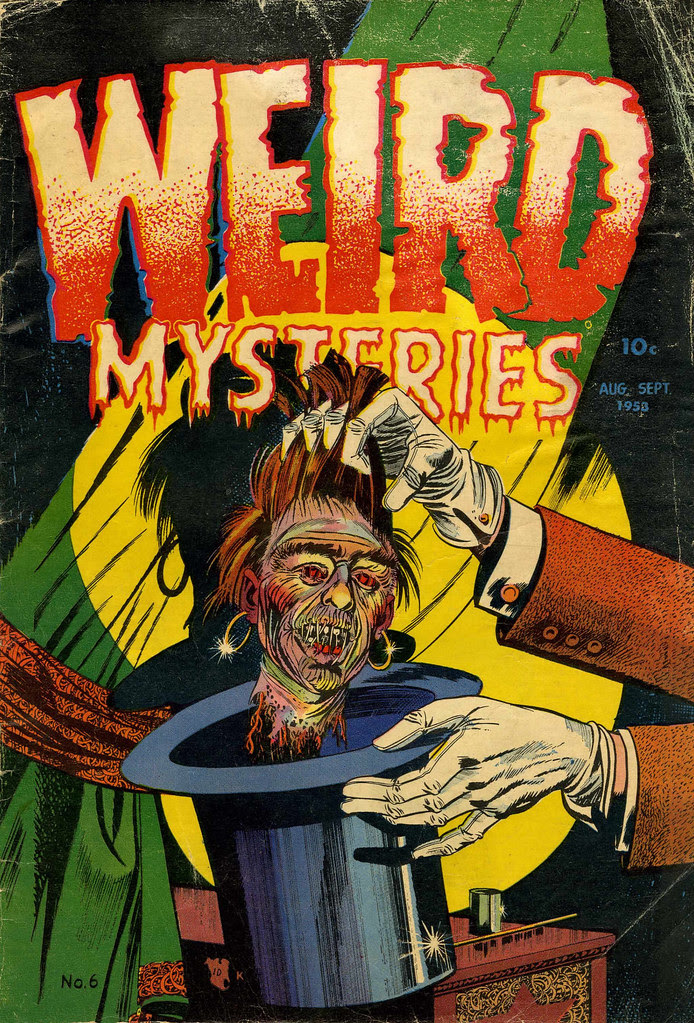 Weird Mysteries #6 Bernard Bailey Cover (Gillmor, 1953)