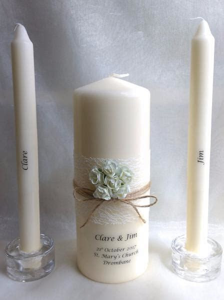 Personalised Candles: Wedding Candles & Unity Candle for
