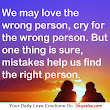 We may love the wrong person