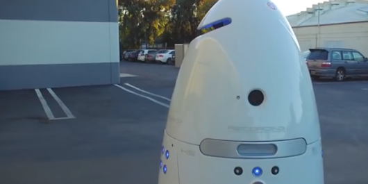 Silicon Valley security robot beat up in parking lot, police say