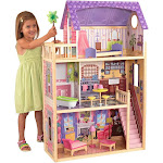 KidKraft Kayla Wooden Pretend Play Dollhouse with Furniture and Accessories by VM Express