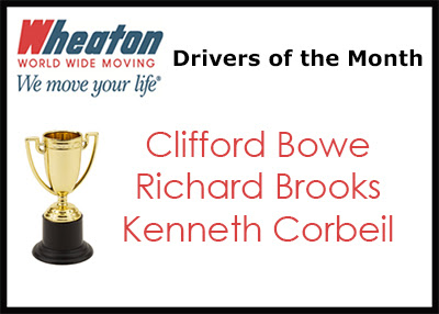 Bowe, Brooks and Corbeil Earn Driver of the Month Recognition - Wheaton