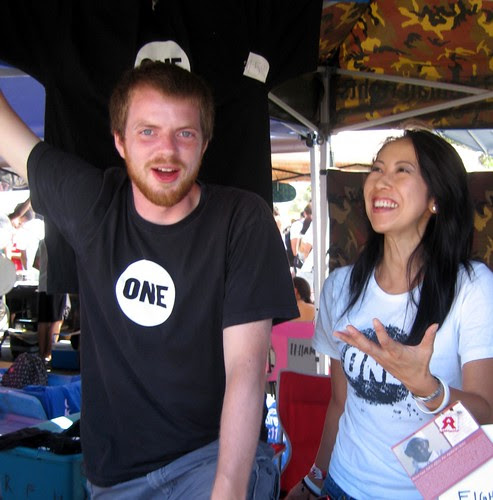 Brian and Sherri at the booth
