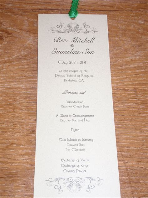 Cute idea for wedding programs! Another item that is
