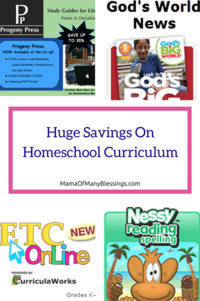Amazing Savings From The Homeschool Buyers Co-Op