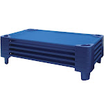Ecr4kids Toddler Stackable Kiddie Cot, 40 x 23 x 6 in, Set of 5