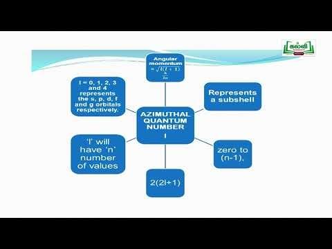 NEET  JEE Chemistry Quantum  Number Kalvi TV