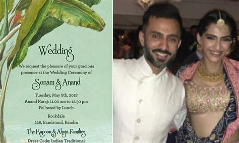 Is THIS Sonam Kapoor   Anand Ahuja's Wedding Card?   91966
