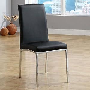 Amazon.com - Alana Contemporary Black Finish Dining Chairs (Set of
