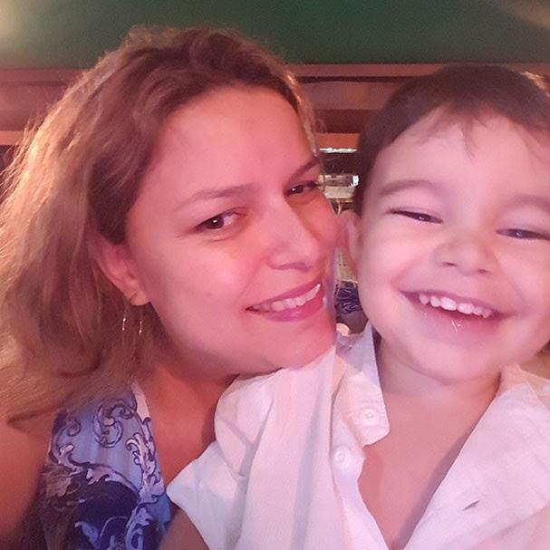 Odara Gallo e o filho, Franco (Foto: Arquivo pessoal)