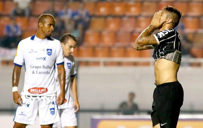 Guerrero lamento jogo Corinthians e Rio Claro (Foto: Rafael Neddermeyer / Agência Estado)