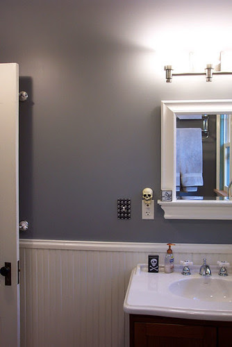 Wall space next to mirror