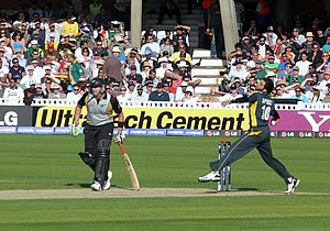 English: Shahid Afridi bowling in World Twenty...