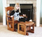 Glider Rocker Woodworking Plan for Adult - fee plans from WoodworkersWorkshop® Online Store - glider rockers,furniture,adult size,full sized patterns,woodworking plans,woodworkers projects,blueprints,drawings,blueprints,how-to-build,MeiselWoodHobby