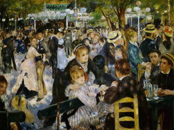 Pierre-Auguste Renoir - Baile en el Moulin de La Galette