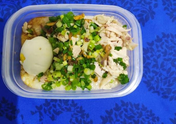 Resep Praktis Bubur Ayam Quaker (menu diet) Tanpa Tanding