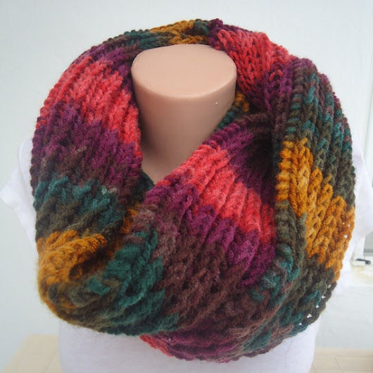 Mens and womens soft knit chunky  infinity scarf by AYTULGIFT