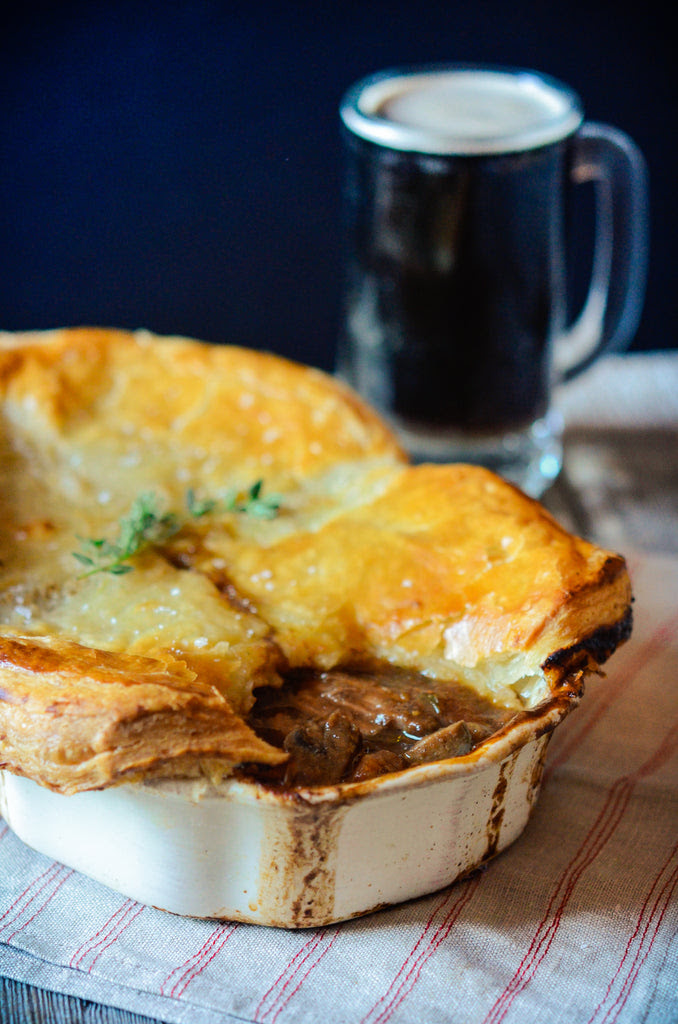 Steak and Guinness Pie - Many Kitchens