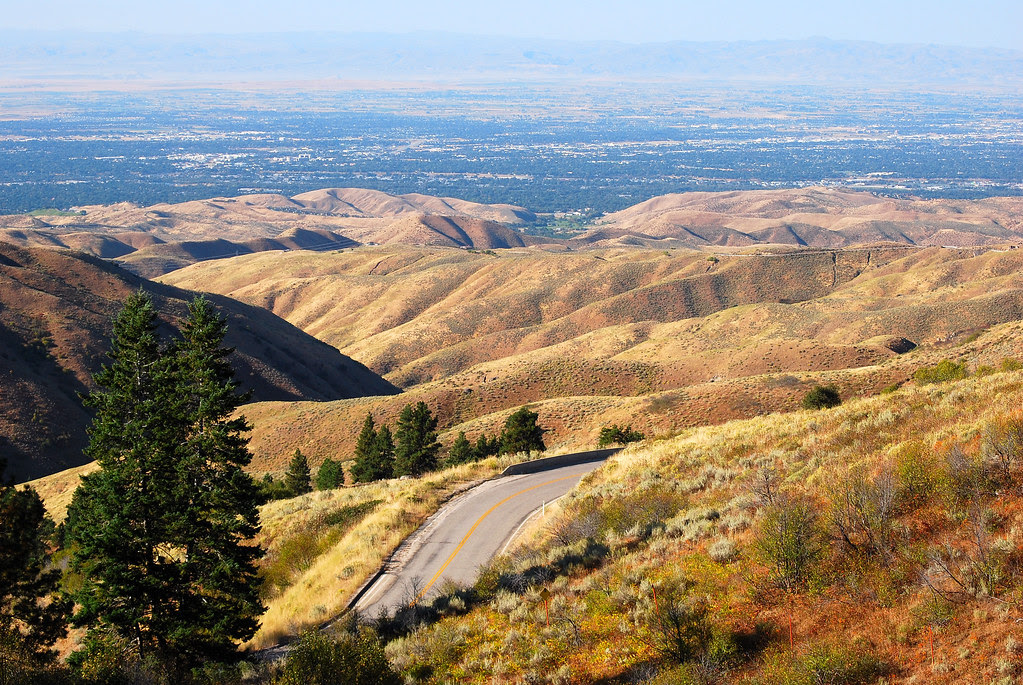 Treasure Valley Below View Of The Treasure Valley And