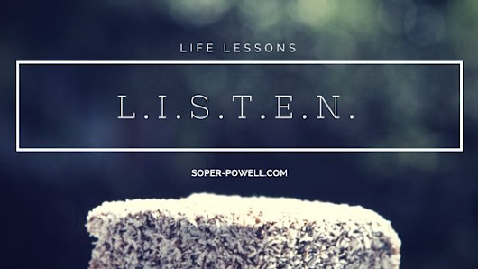 Active listening in six easy steps - Soper-Powell.com