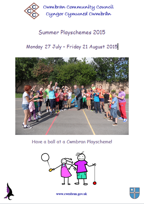 Cwmbran Community Council playscheme poster