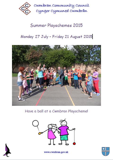 Cwmbran Community Council playscheme poster