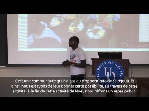 "Watch ""UD Mandela Washington Fellows Ignite on Opportunity: Arsene Tungali Baguma"" on YouTube"