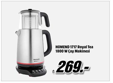 HOMEND 1717 Royal Tea 1800 W Çay Makinesi 269TL
