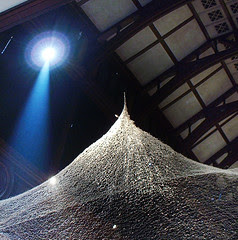 """""""String Web"""" woven sculpture by Machiko Agano"""