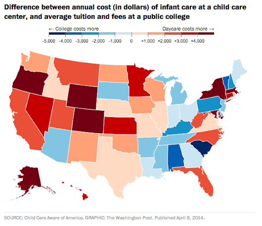 Day Care is More Expensive Than College